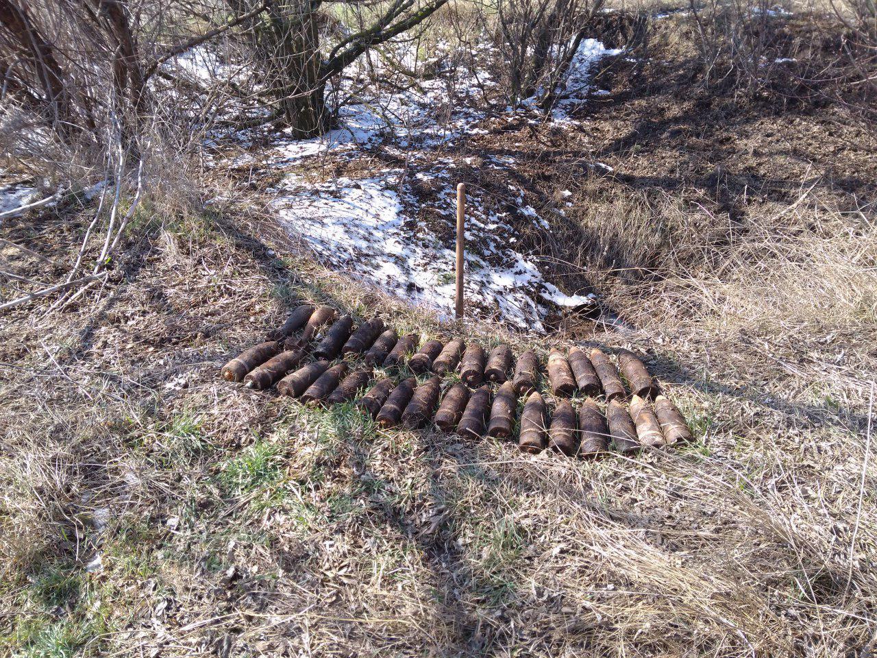 В Запорожской области обнаружили и обезвредили почти полсотни боеприпасов