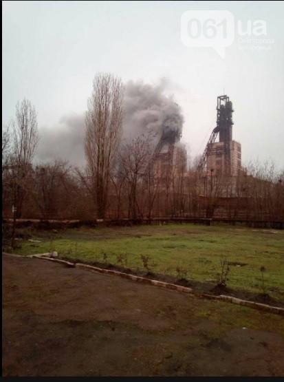 В Запорожской области произошел пожар на шахте: пострадали 6 горняков - ФОТО, ВИДЕО