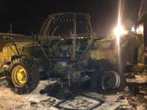 В Запорожской области из-за короткого замыкания загорелся автопогрузчик