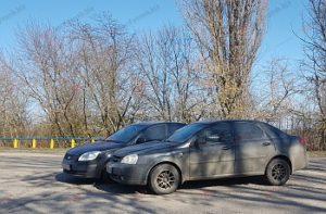 В Запорожской области не разминулись две легковушки - ФОТО