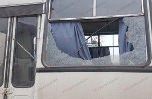 В Запорожской области выстрелили в автобус с пассажирами - ФОТО, ВИДЕО