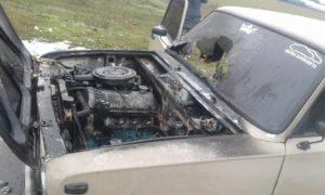 В Запорожской области из-за короткого замыкания загорелась легковушка - ФОТО