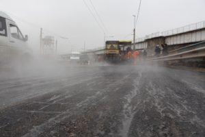 Ремонт дороги на плотине ДнепроГЭСа выходит на завершающий этап