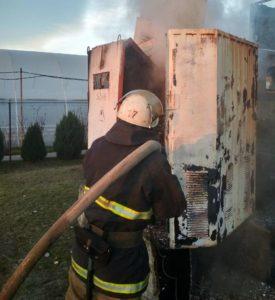 В Запорожской области загорелся трансформатор - ФОТО