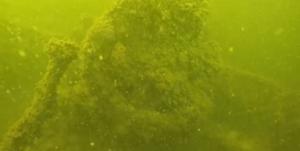 Запорожский дайвер обнаружил в водах Днепра затонувшее плавсредство времен войны – ВИДЕО