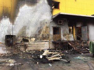В центре Запорожья ночью горел супермаркет