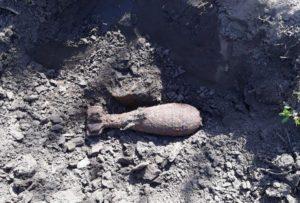В Запорожской области обнаружили десяток минометных мин и три авиабомбы - ФОТО