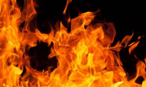 В Запорожье ночью произошел пожар в девятиэтажке