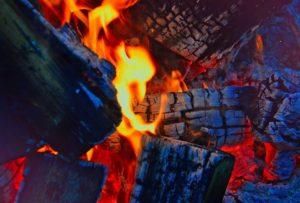 В спальном районе Запорожья на частном подворье сгорел сарай с дровами