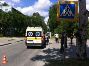 В Запорожье легковушка сбила маленького ребенка - ФОТО