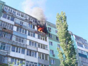 В Запорожской области произошел пожар в многоэтажном доме - ФОТО