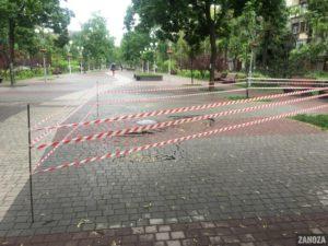 Прорвало трубу: коммунальщики назвали причину обвала плитки на проспекте Маяковского