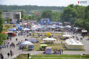 Развлечения, устрицы и ярмарка: в Запорожье стартовал фестиваль уличной еды