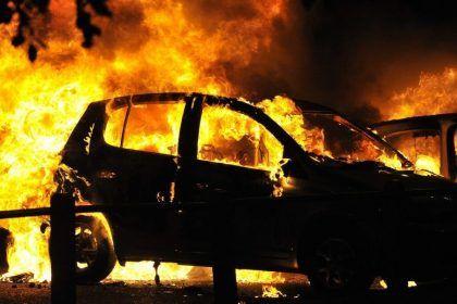 В Запорожье на Бабурке загорелась иномарка