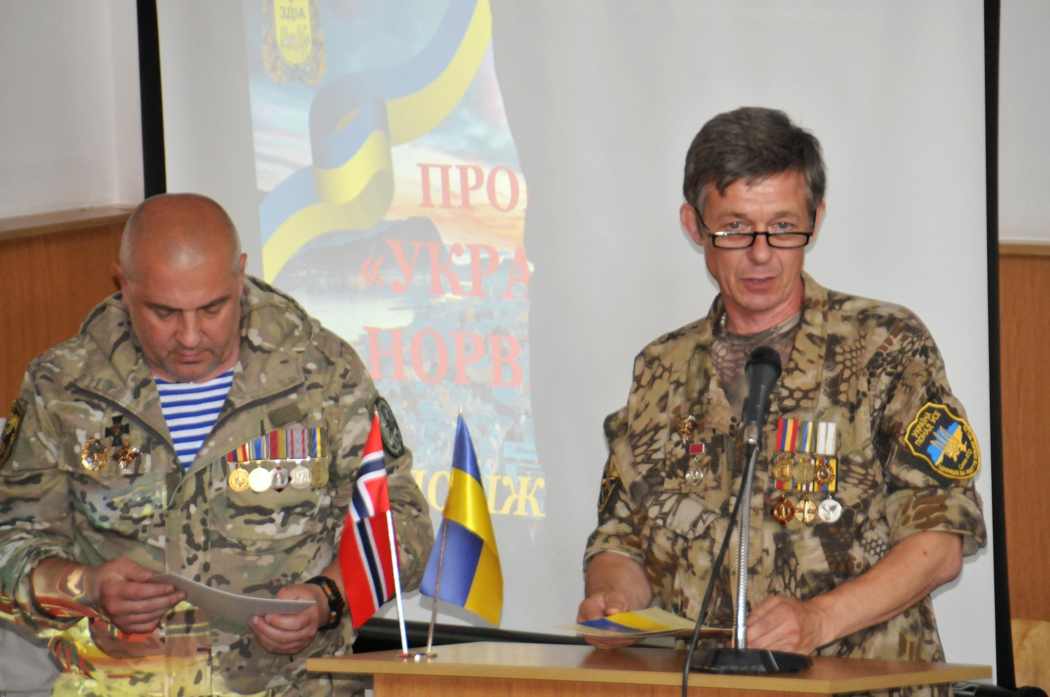 В Запорожье бойцы АТО имеют возможность получить новые знания и открыть собственный бизнес благодаря партнерству с Норвегией - ФОТО
