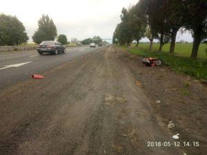 На трассе в Запорожье произошло ДТП с мотоциклом: есть пострадавшие - ФОТО