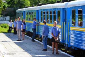 Запорожская детская железная дорога отметила 46-ю годовщину своего основания