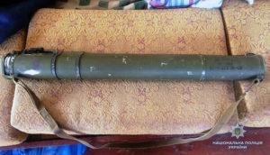 У жителя Запорожской области нашли реактивную противотанковую гранату - ФОТО