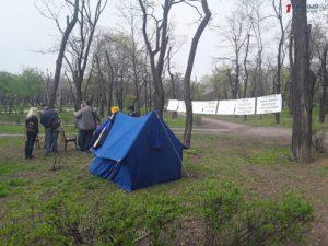 В Запорожье активисты свернули палаточный городок в парке Яланского