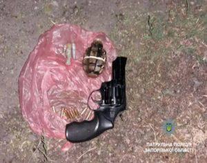 В Запорожье патрульные задержали владельца «Таврии», который катался с гранатой и пистолетом в руках – ФОТО