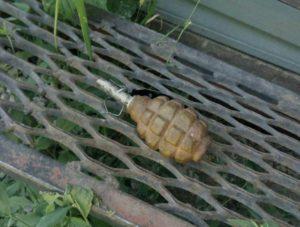 Житель Запорожья нашел гранату прямо у порога своего дома - ФОТО