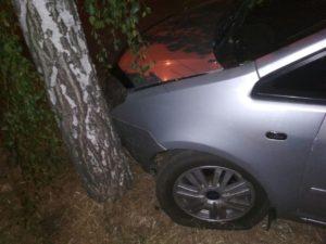 В Запорожье на Набережной иномарка влетела в дерево - ФОТО