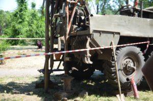 В Запорожье рабочие беспрепятственно берут пробы грунта на месте строительства нового ТРЦ - ВИДЕО