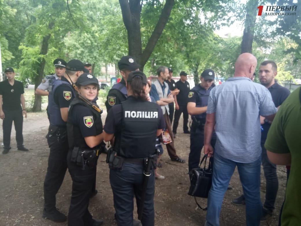 В Запорожье продолжает нарастать конфликт в парке Яланского - ФОТО, ВИДЕО