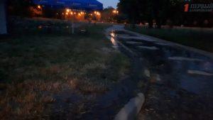 В Запорожье Парк Победы залило канализационными стоками – ФОТО