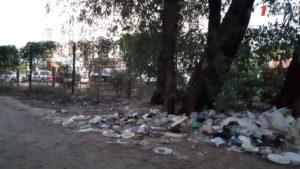 В Запорожье Набережная магистраль утопает в мусоре – ФОТО