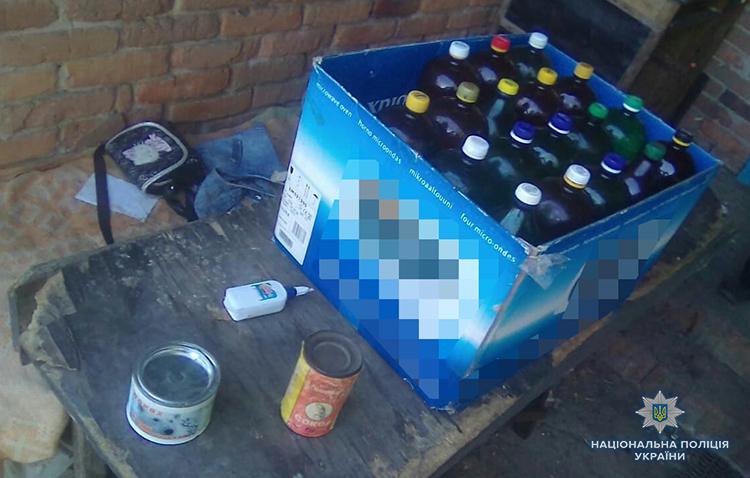 Оружие, боеприпасы и 45 литров самогона: под Запорожьем полицейские провели рейд в одном из сел – ФОТО