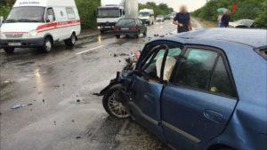 На запорожской трассе произошло ДТП с пострадавшими - ВИДЕО