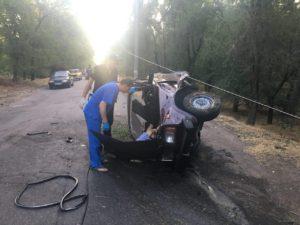 В Запорожье мужчина напился после ссоры с женой и попал в ДТП - ФОТО