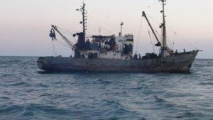 Появилось видео задержания в Запорожской области двух браконьерских судов - ВИДЕО