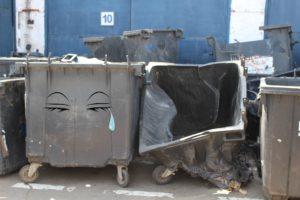 В Запорожье мусорные баки страдают от рук вандалов - ФОТО