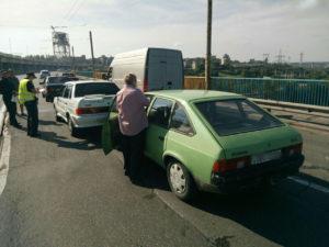 На плотине ДнепроГЭСа произошло тройное ДТП - ФОТО