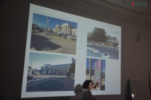 В Запорожье специалисты совместно с горожанами обсудили план реконструкции Привокзальной площади - ФОТО