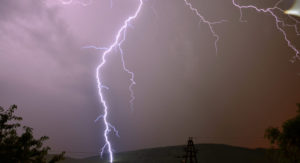 В Запорожской области во время грозы молния поразила двух людей