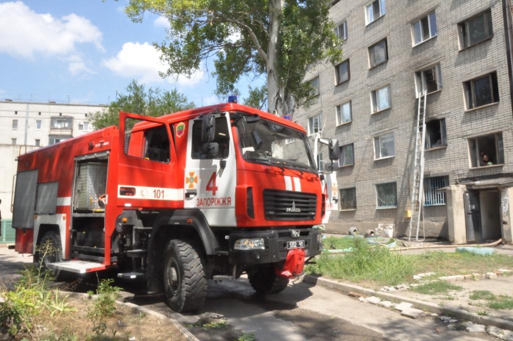 В Шевченковском районе Запорожья произошел пожар в общежитии - ФОТО
