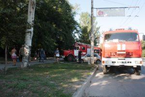 В Вознесеновском районе Запорожья произошел пожар - ФОТО