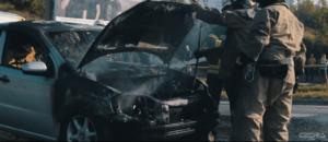 В Запорожье на ходу загорелся легковой автомобиль - ВИДЕО