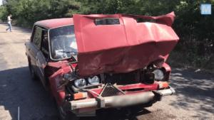В Запорожской области в автобус с пассажирами врезалась легковушка - ФОТО, ВИДЕО