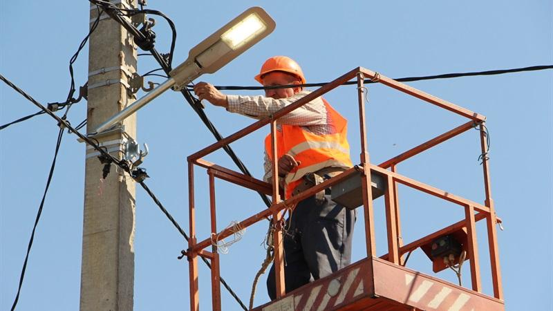 В Хортицком районе Запорожья установили современные светодиодные светильники