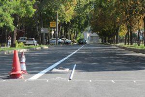 В Запорожье возле школ обновляют дорожную разметку - ФОТО