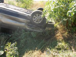 В Запорожской области в результате ДТП легковушка вылетела в кювет и перевернулась: есть пострадавшая - ФОТО