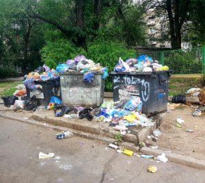 Запорожцы жалуются на мусорные свалки во дворах жилых домов – ФОТО