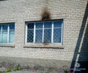 В Запорожской области здание сельсовета забросали