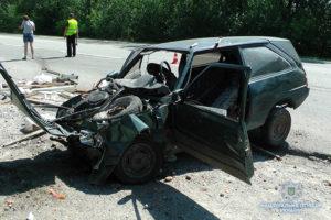 В Запорожье на трассе столкнулись легковушки: есть пострадавшие - ФОТО