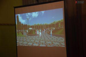 В Запорожье проектная организация Кальцева рассказала, что собирается делать с парком Пушкина: послушать их пришли одни пенсионеры