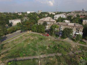 Вырубленный парк Яланского засняли с высоты птичьего полета - ФОТО, ВИДЕО
